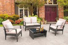 Steel KD Outdoor Sofa & Coffee Set