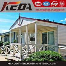 Light Steel Structrue Villa Prefabricated Beach Homes Log House / Granny Flat 006
