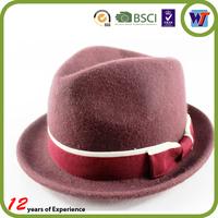 Wide Brime Fashion Bowler Wool Felt Church Wool Man Hat