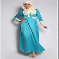 2015 New arrival Muslim women long maxi dress wholesale kaftan jubah