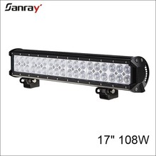 17 inch 108w dual row waterproof combo beam bar led light for heavy duty machine/agricutural vehicles