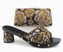 Top popular high quality matching shoes and bag for wedding party SL-881