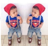 New Arrival children clothing sets,2pcs designs.Super man boy