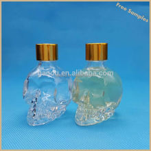 American translucent skull e cig oil bottle for different flavor skull shape e cigs liquid bottles