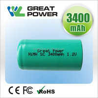 rechargeable 10c discharge current 23*43MM 1.2V sc 3500 nimh Battery for power tool