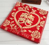 Promotion Jacquard Velvet Cotton Red Towels