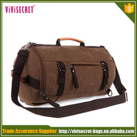 Fashionable Vintage Canvas leather handle Duffle Bags