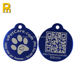 Be new and beautiful customized metal pet tags qr code Dog tags with individual id code for dogs with CE certificate