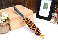 White River Backpacker Black Survival Knife w/ Kydex Sheath & Desert Paracord