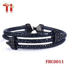 2015 Black Stingray Skin Jewelry Luxury High Class Leather Bracelet For Men/Watch Lovers, Top Level Bracelet For Sale