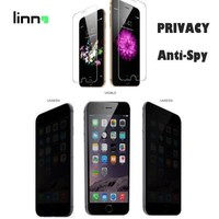 LINNO For iPhone 6plus High quality 180 degree Privacy Anti Spy 9H Tempered Glass screen protector DHL free