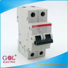2P 6 to 63A 230V miniature circuit breaker plastic SH201L MCB