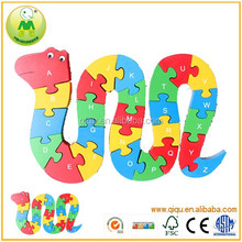 Kids Educational Snake Puzzle Game Plan Wooden Toys
