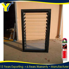 Australia AS2047 standard 6years warranty commercial double glass aluminium sliding window with fixed louvre