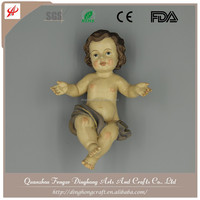Wholesale Resin Angel and Cross Religious Crafts Nude Statue