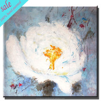 Wholesale white lily flower oil paintings for wall decoration