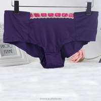 2015 Winter Bamboo Fiber OEM Hipster Young girl purple cotton hot sexy modal lady panty