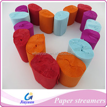 decorating with crepe paper streamers