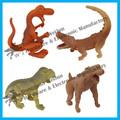 de alta calidad de plástico pequeñas figuras de animales para las promociones