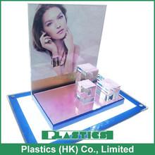 cosmetics acrylic counter top display