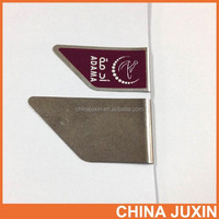 stainless steel airplane paper clip with full color laminated label imprint