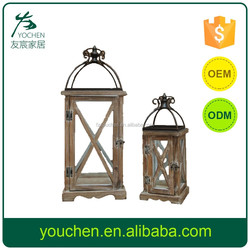 white metal glass anti paint candle lantern rust