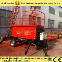 Mobile hydraulic scissor motorcycle lift table/Mobile Scissor Man Lift, 300KG/8M