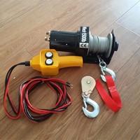 portable small 12 volt mini wire rope winch