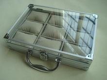 Invicta watch case,acrylic panel wrist watch dial case,aluminum cheap watch box