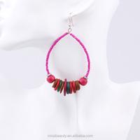 Hot Sales Fashion American Design Beads Hoop Earrings bulk buy from china