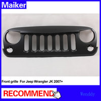 ABS Front grill for Jeep Wrangler JK 2007+ grille off road accessories