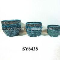 Porcelain pot for sale blue glazed antique flower pots