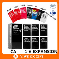 Cards Against Humanity CA Base And US Expansion And Holiday Packs Reject Science House Of Cards Pack Card Game Wholesale