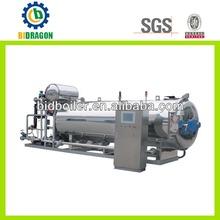 Esterilizador a vapor de la máquina para latas alimentos