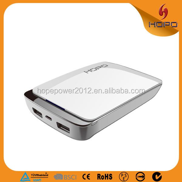 2015 новые инновационные продукты 10400 мАч зарядное устройство зарядное устройство с двумя usb powerbank для HTC Sony