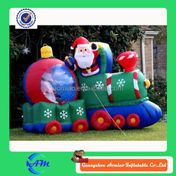 fashionable Christmas giant outdoor inflatable Santa Claus,inflatable man and car