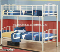 Wholesale high quality and low price double decker shaped metal adult cheap bunk beds