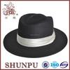big brim burgundy black fedora hat with white band