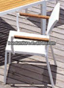 White Arm Chairs Modern Outdoor Dining Chairs