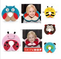 Children's animal cartoon style car seat travel neck pillow/U shape pillow