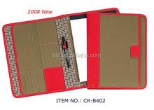 very fashion woman leather portfolio a4 folder