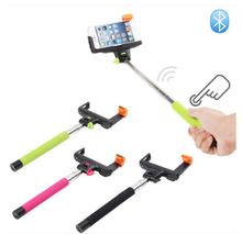 Extendable Wireless with Bluetooth Shutter Release Buttom Selfie Monopod Stick for Iphone IOS Android
