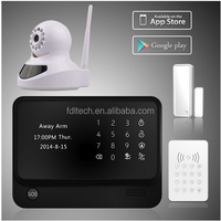 German language Home Security Alarmanlage with GSM+WIFI+GPRS+SMS+APP and 868mhz/433mhz