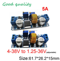 5A 75W Constant current and voltage CC CV dc to dc step down buck converter LED driver lithium batteries 4-38V to 1.25-36V