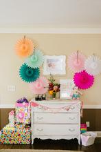 Pastel Hanging Tissue Paper Fans DIY backdrop tissue paper fans Tissue Party Wall Fan Hanging Birthday Wedding Decoration