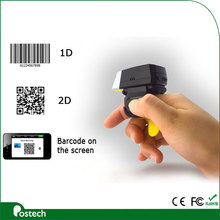 Portable 2D Mini wireless weable Barcode data collector compatible with Android/IOS mobile phone, tablet PC