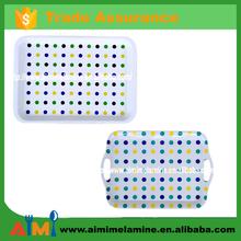 High quality customer design melamine tray with handle