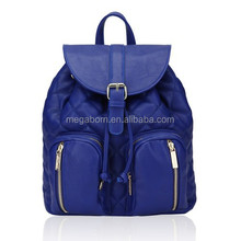 2015 Quilted Korean Style Drawstring Closure Fashion School Backpack