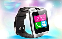 GV08 smart watch phone with touch display, MTK 6260A smart phone watch with camera