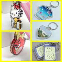 Guangzhou factory Supply plastic keychain/custom keychain